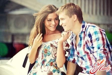 Парень и девушка наслаждаются друг другом