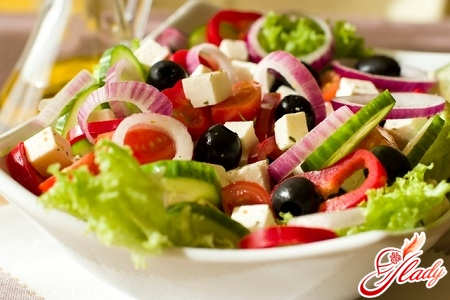 Греческиий салат фото