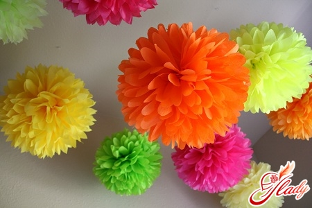 Как сделать своими руками цветы из бумаги