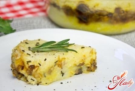 вкусная картофельная запеканка с грибами и сыром