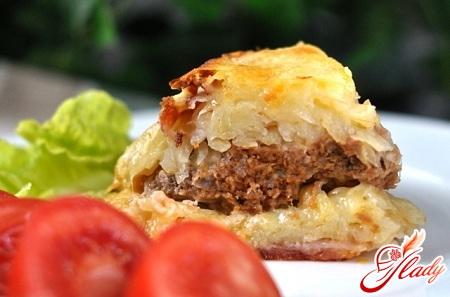картофельно мясная запеканка с грибами