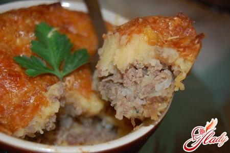 картофельно мясная запеканка