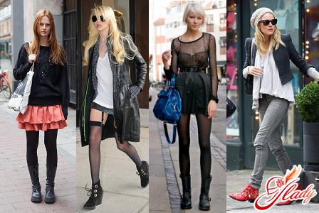 красивый рок стиль в одежде