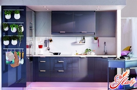 сочетание цвета в интерьере кухни