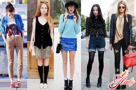 разные стили одежды для подростков