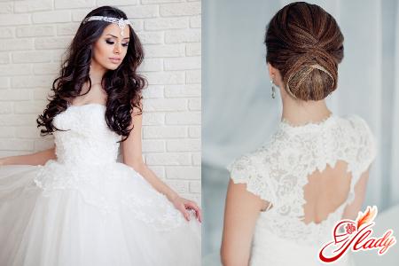 прически свадебные на длинные волосы