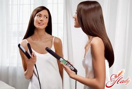 как уложить волосы утюжком