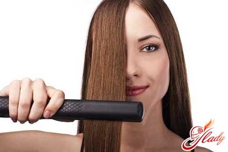 как правильно укладывать волосы утюжком