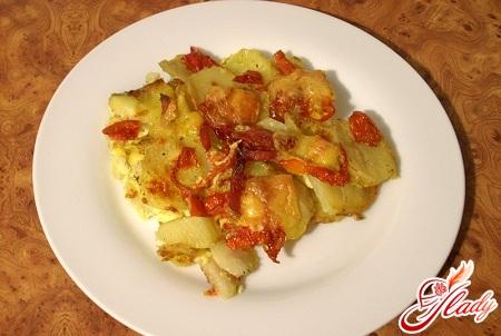 запеканка картофельная с колбасой