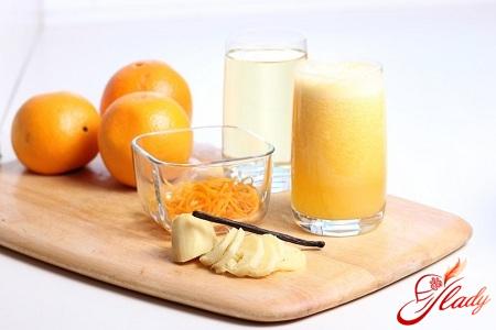 апельсиновый напиток рецепт