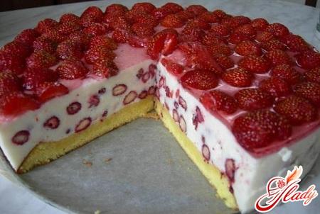 вкусный бисквитный торт с творожным кремом