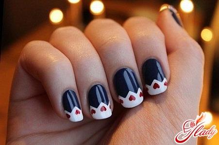 красивый модный маникюр для коротких ногтей