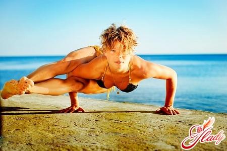 упражнения йога для начинающих
