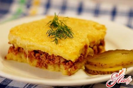 вкусная картофельная запеканка с фаршем и сыром
