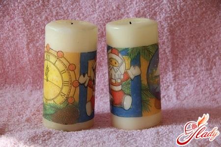 красивые свечи своими руками к новому году