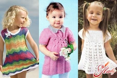 как связать платье для девочки спицами