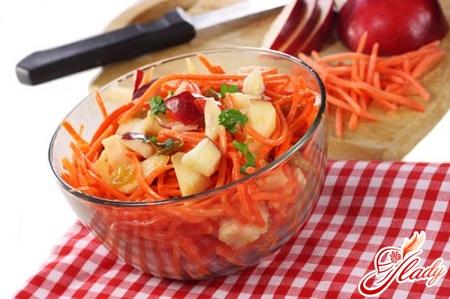 Салат из моркови и яблока чем заправить