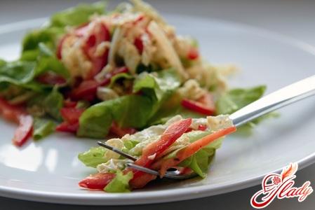 салат из шампиньонов с сыром