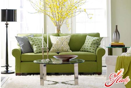 Мягкая мебель зеленого цвета