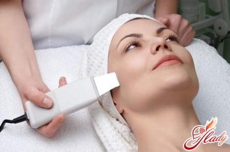 ультразвуковая чистка лица у косметолога