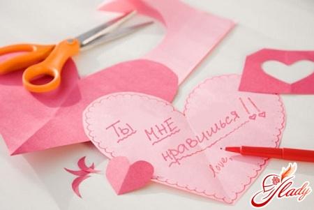 поделки ко дню святого валентина