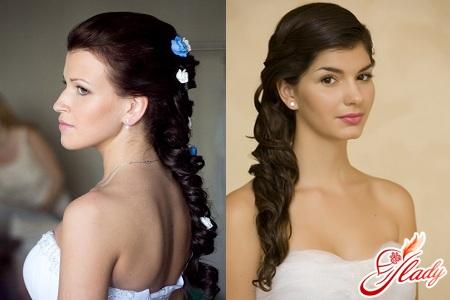 прически свадебные с косами