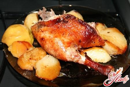 рецепт утки с картошкой