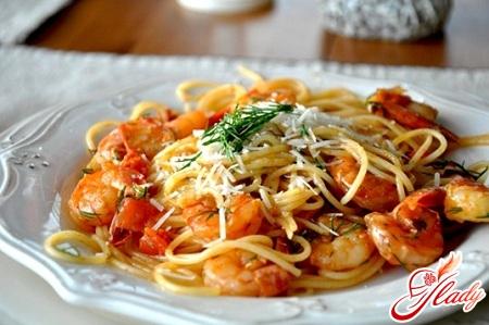 соус для спагетти с креветками