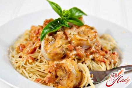 Соус с креветками для спагетти, пасты, макарон
