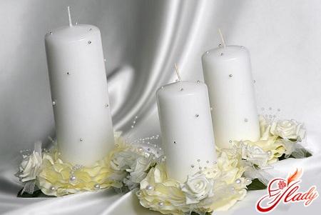 Как своими руками украсить свадебные свечи