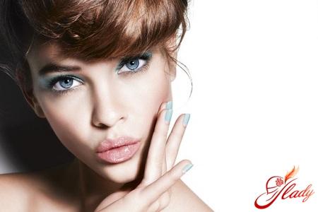 красивый свадебный макияж для голубых глаз