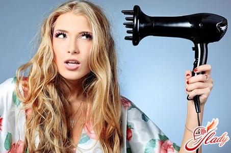 как уложить волосы диффузором