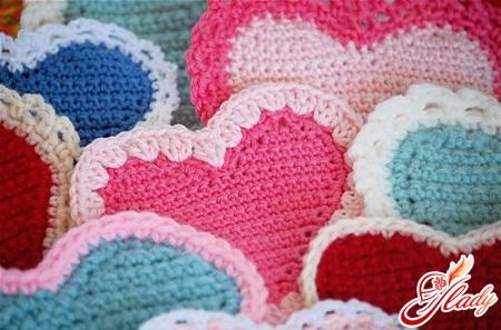 валентинки вязаные