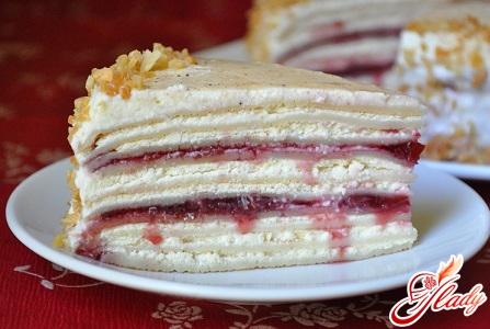 блинный торт с творогом рецепт с фото пошагово в домашних условиях