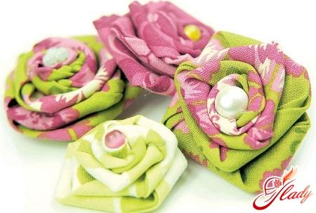 Сделать своими руками цветочек из ткани своими руками фото 470