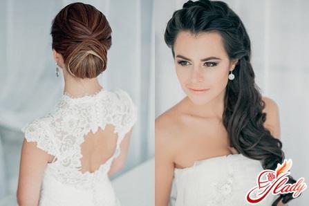 Причёска на свадьбу простая