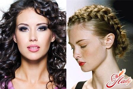 укладки для волос средней длины