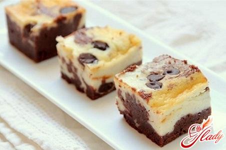 творожно шоколадный торт