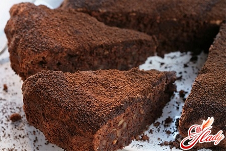 шоколадный торт два ореха