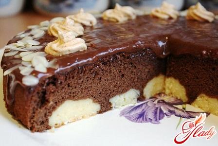 торт шоколадный с творогом