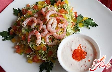 Соус к салату из морепродуктов