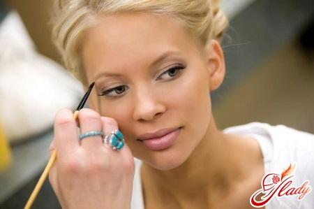 модный свадебный макияж для блондинок