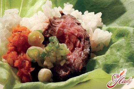 Сями с маринованным мясом