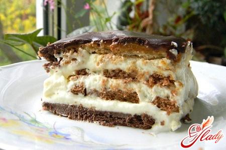 как приготовить торт из крошки печенья