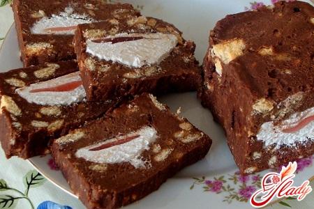 торт из зефира и печенья рецепт