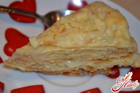творожный торт наполеон