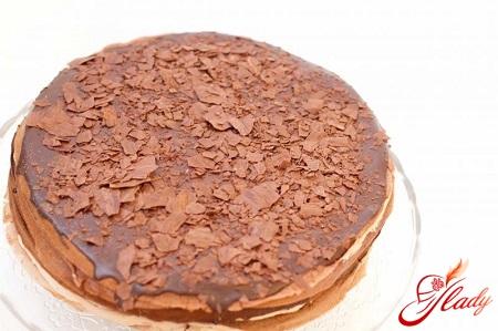 торт наполеон творожный рецепт