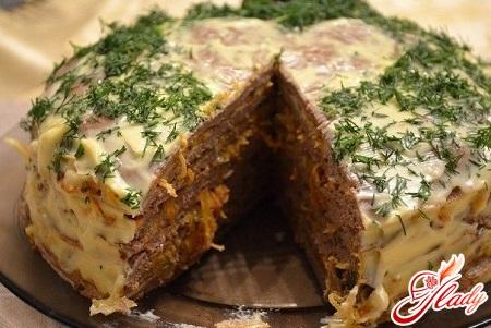печеночный торт рецепт с куриной печенью с молоком
