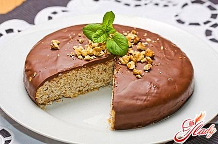 Морковный торт с грецкими орехами фото