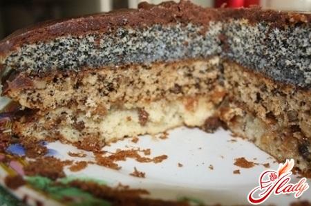 торт сказка рецепт с фото изюм орехи мак